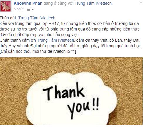 Phan Phạm Văn Khôi Vinh – Khóa học PHP & MySQL – 09064190xx